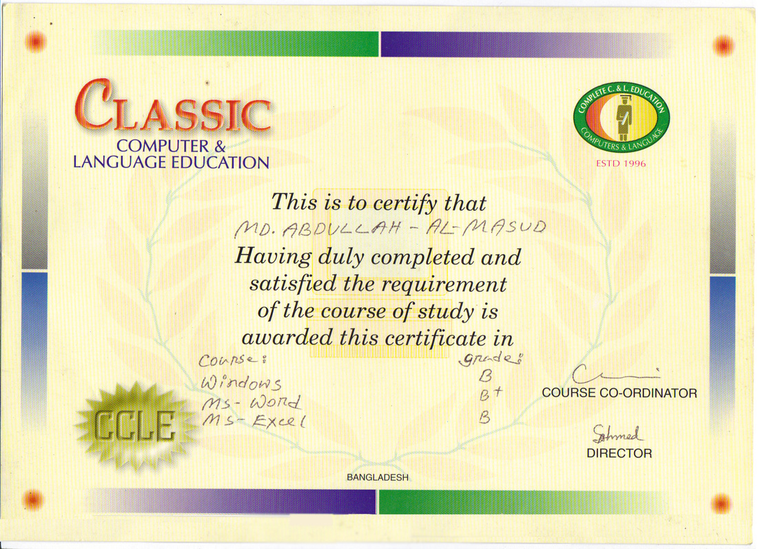 Academic background mohd abdullah al masud microsoft office certification xflitez Image collections